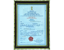 Export House Certificate of Recognition